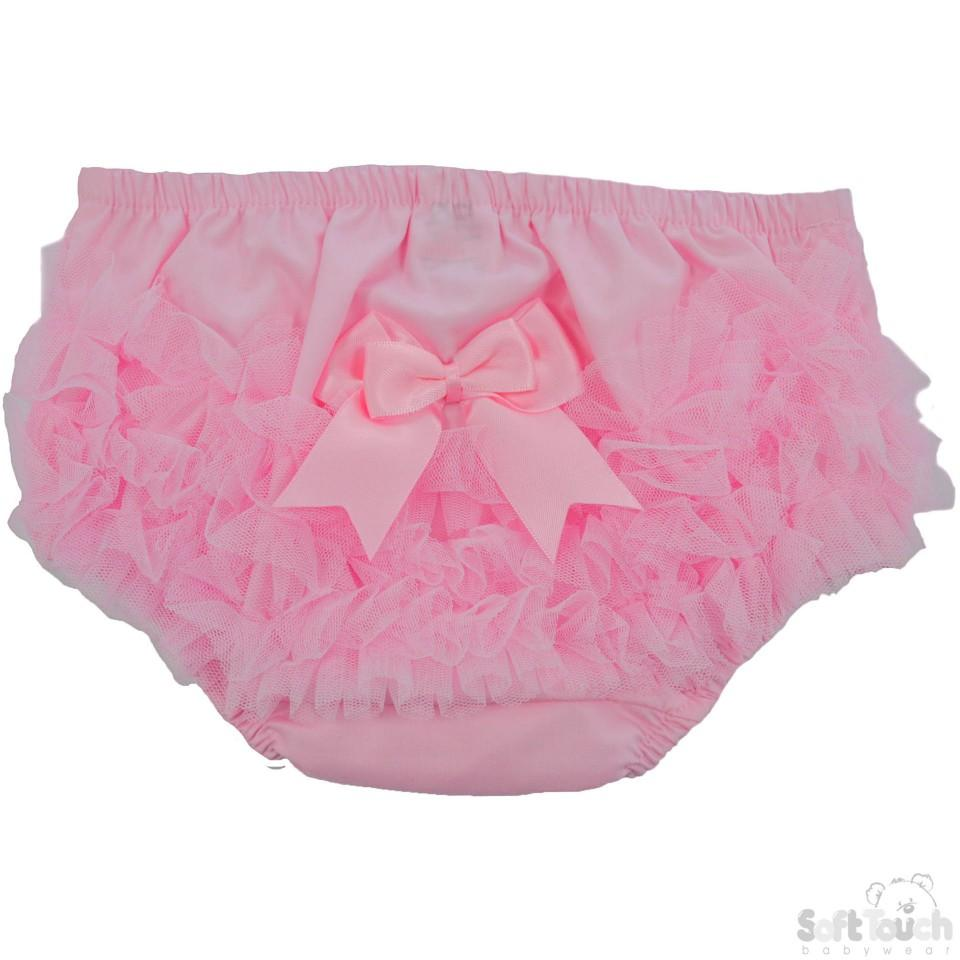 Cotton Frilly Pants- Pink - FP12-P