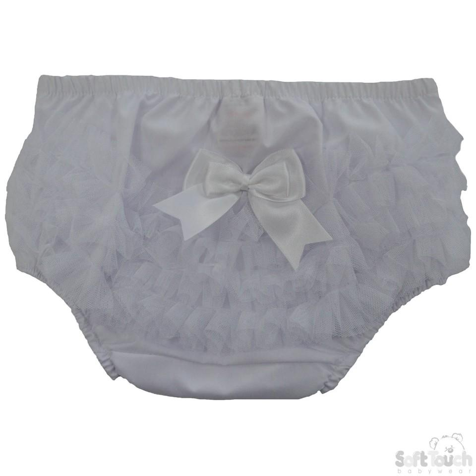 Cotton Frilly Pants- White - FP12-W