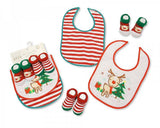 Baby Christmas Bibs and Socks 4 Pieces Set - 0689 [GP-25-0689]