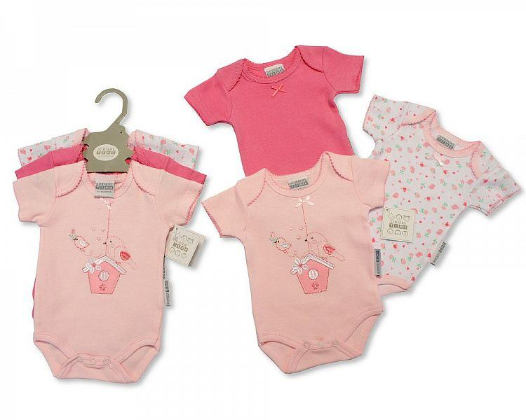Baby 3 pcs Bodysuit Gift Set - Little Bird - 0-6 Months [GP-25-0855] - Kidswholesale.co.uk