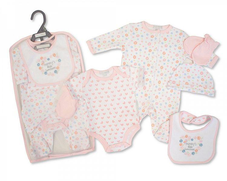Baby Girls 5 pcs Gift Set - Mummy's Little Sweetheart - NB/6M - (GP-25-0865)