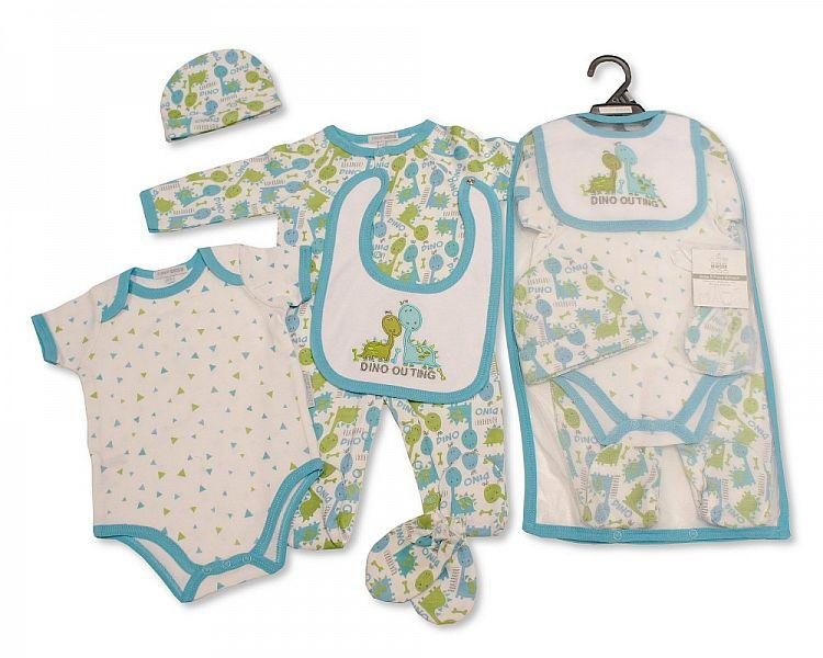 Baby Boys 5 pcs Gift Set - Dino Outing [GP-25-0962]