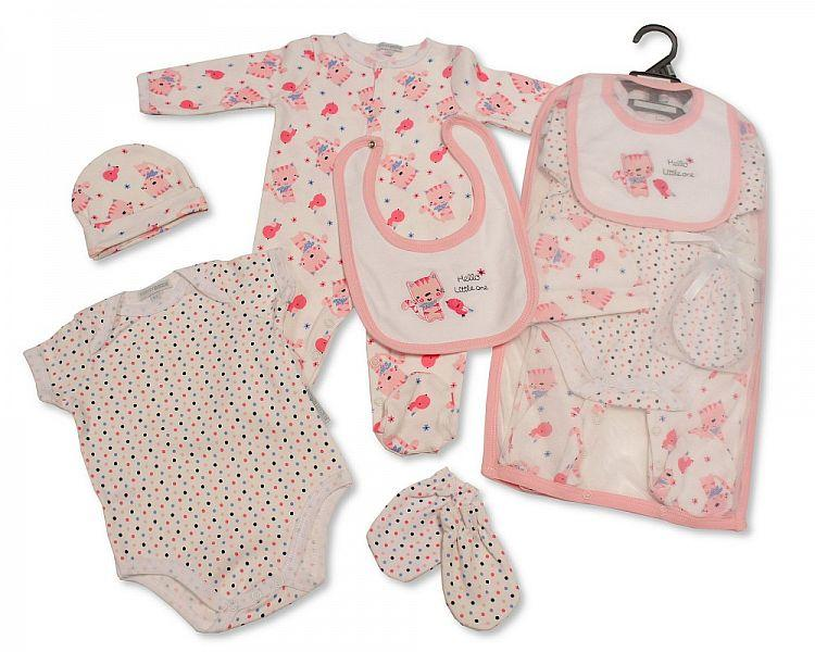 Baby Girls 5 pcs Gift Set - Hello Little One [GP-25-0965]