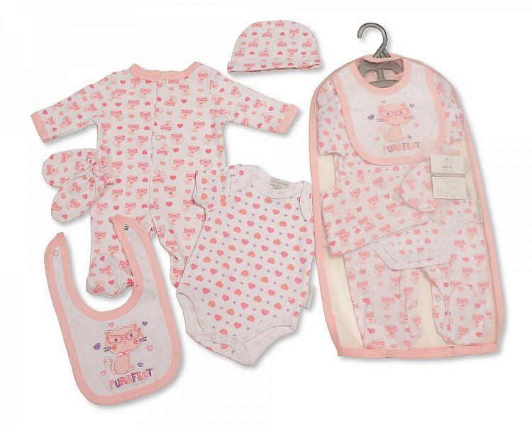 Baby Girls 5 Pieces Gift Set - Purrfect (GP-25-0988)