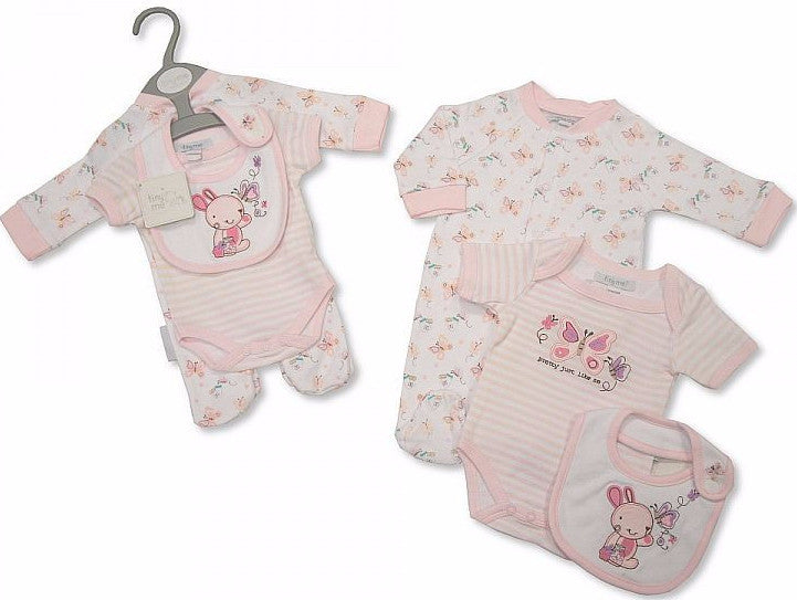 3 pcs Baby Cotton Gift Set - Bunny and Butterfly