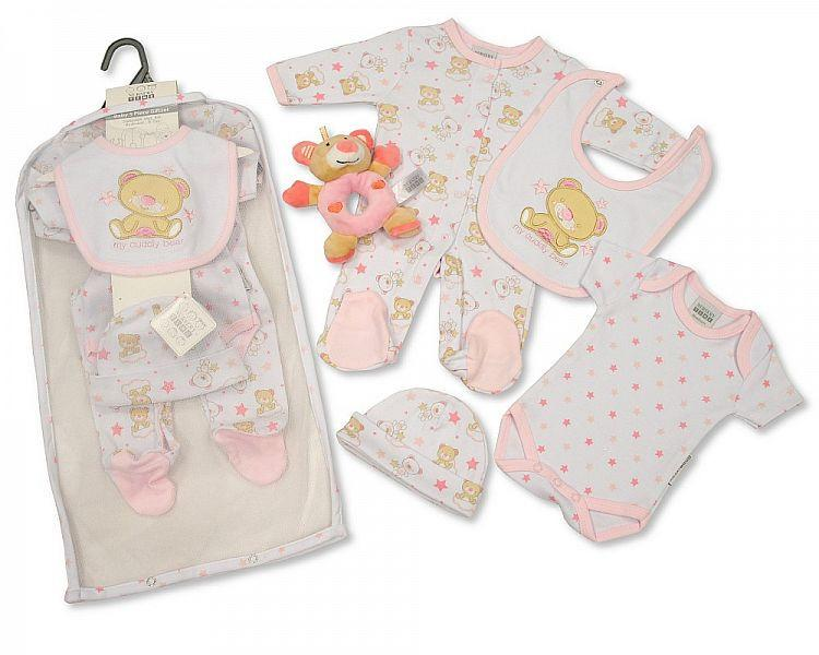 Baby Girls 5 pcs Mesh Set with Toy