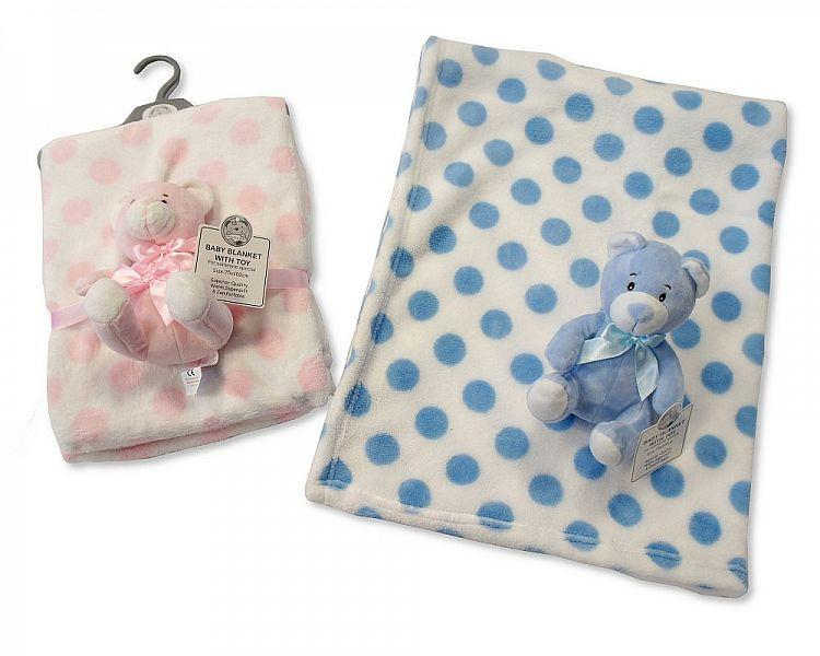 Baby Blanket with Cuddly Toy on Hanger(Gp-2516-0706 ) Unit Price £4.95 + Vat