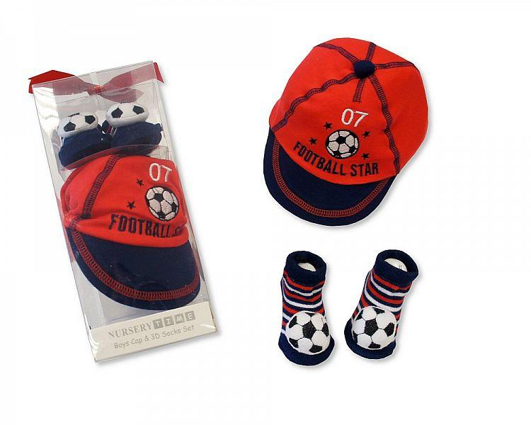 Baby Boys Cap and 3d Socks Set(Gp-2516-0711 )