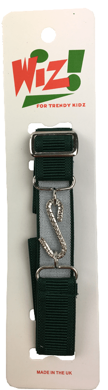 Kids Elastic Snake Belt: Dark Green - Kidswholesale.co.uk