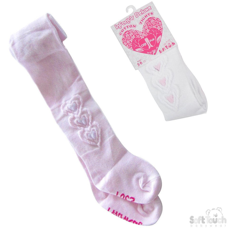 Infants Embossed Heart Gift Tights
