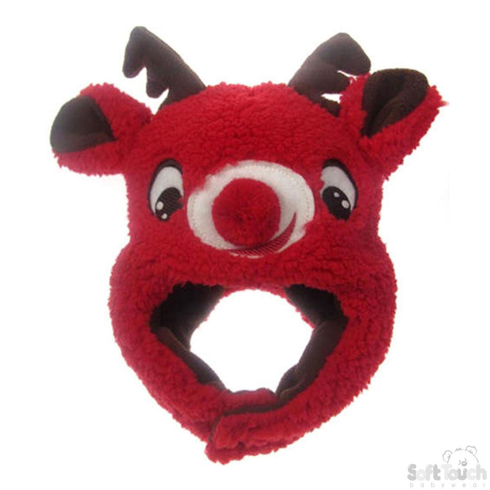 Christmas FLEECE 'REINDEER' HAT: H458-R