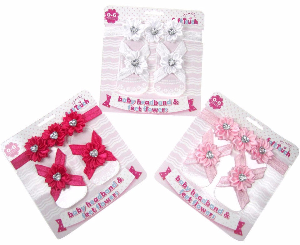 HEADBAND & FEET FLOWER SET: HF07