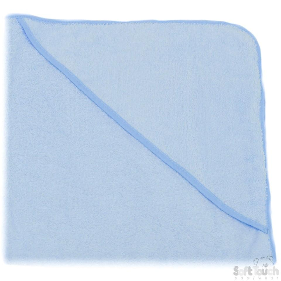 Plain Blue Hooded Robe: HT10-B