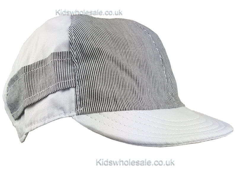 Boys Pinstripe/Plain 2 tone Cap 0-6 months (M4008) - Kidswholesale.co.uk