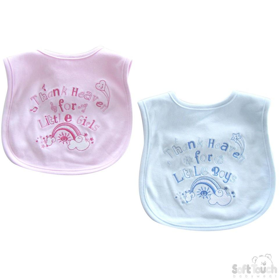 """THANK HEAVEN FOR..."" VELCRO BIB: P3599"