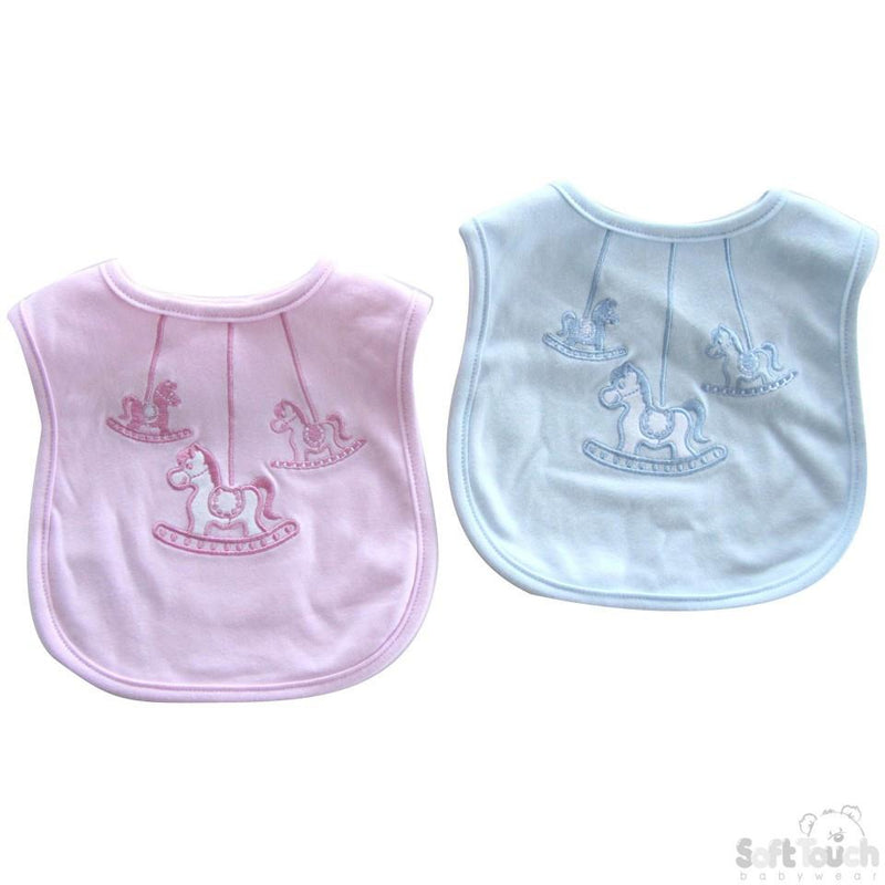 Rocking Horse Velcro Bib: P3603 - Kidswholesale.co.uk