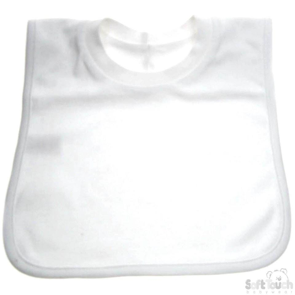 Plain Pop-On Bib (P4630-W)