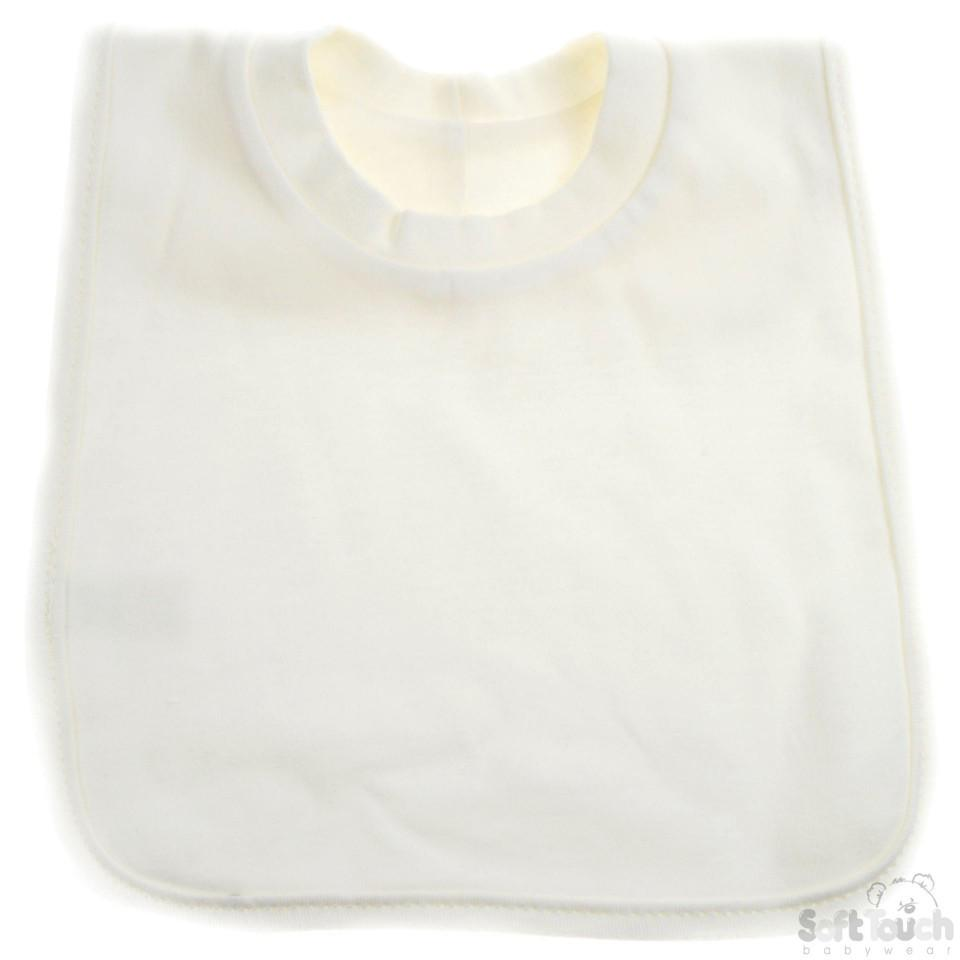 Plain Pop-On Bib (P4631-C)