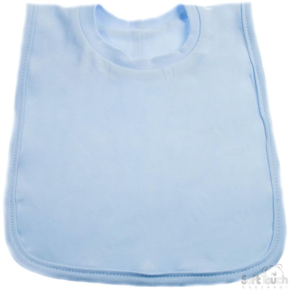 Plain Pop-On Bib (P4633-B)