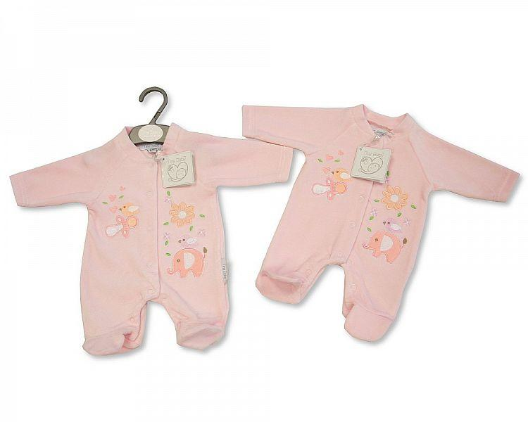 Premature Baby Velour All in One - Tweet Tweet - 3/8 Lbs (PB-20-0069)