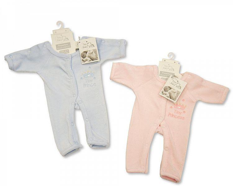 Incubator Velour Sleepsuit ' Tiny Prince/ Princess '- 1.5 Kg (PB-20-468)