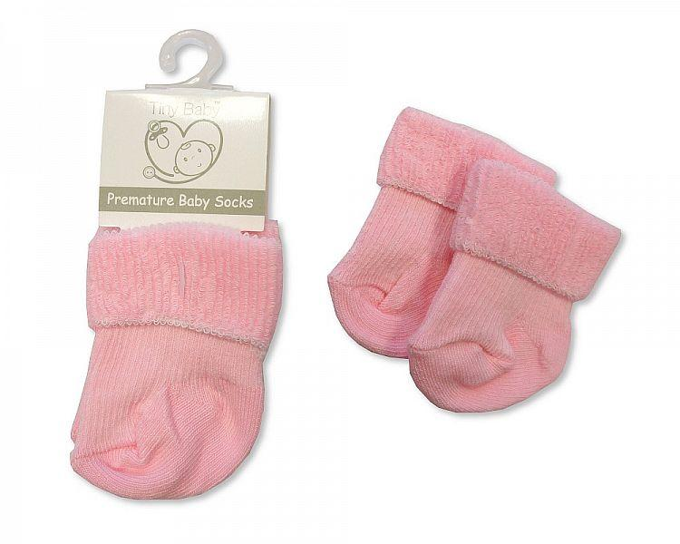 Premature Baby Roll Over Socks - Pink (PB-20-470P)