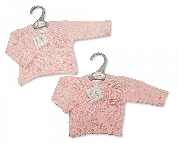 Baby Girls Premature Knitted Cardigan - Little Princess -  Pb-20-905 - Kidswholesale.co.uk