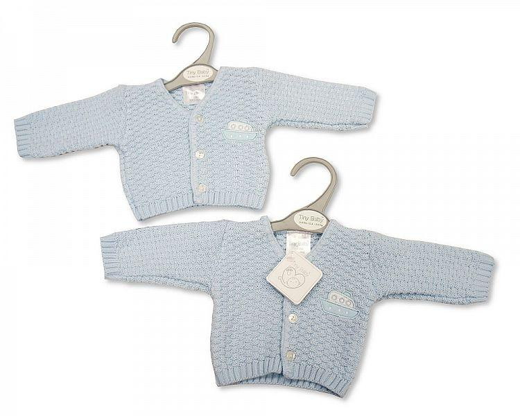 Baby Boys Premature Knitted Cardigan - Boat - Pb-20-907