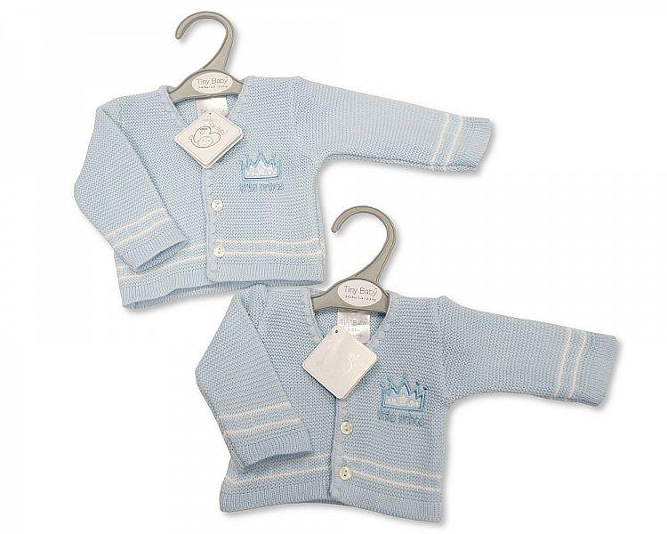 Baby Boys Premature Knitted Cardigan - Little Prince - Pb-20-908