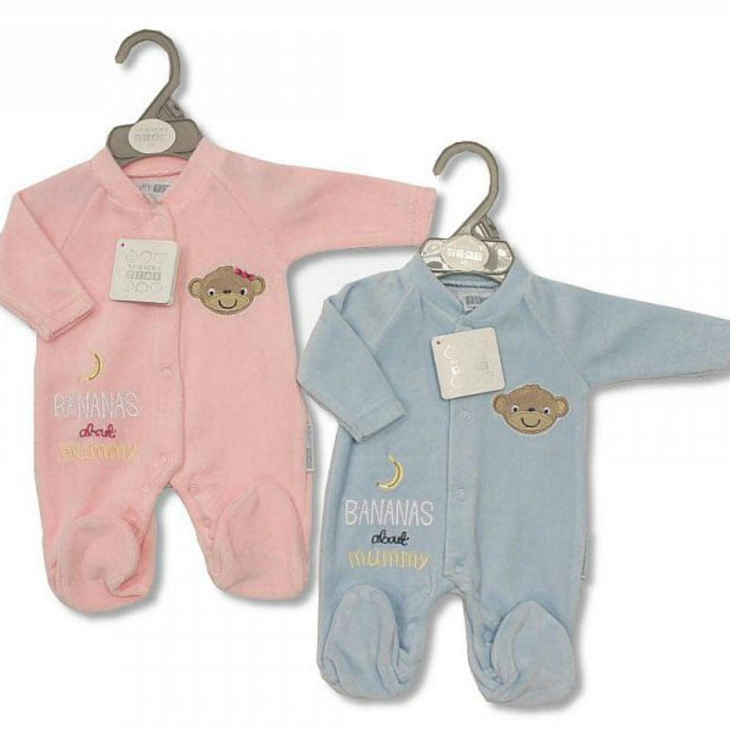 Premature Baby Velour All in One