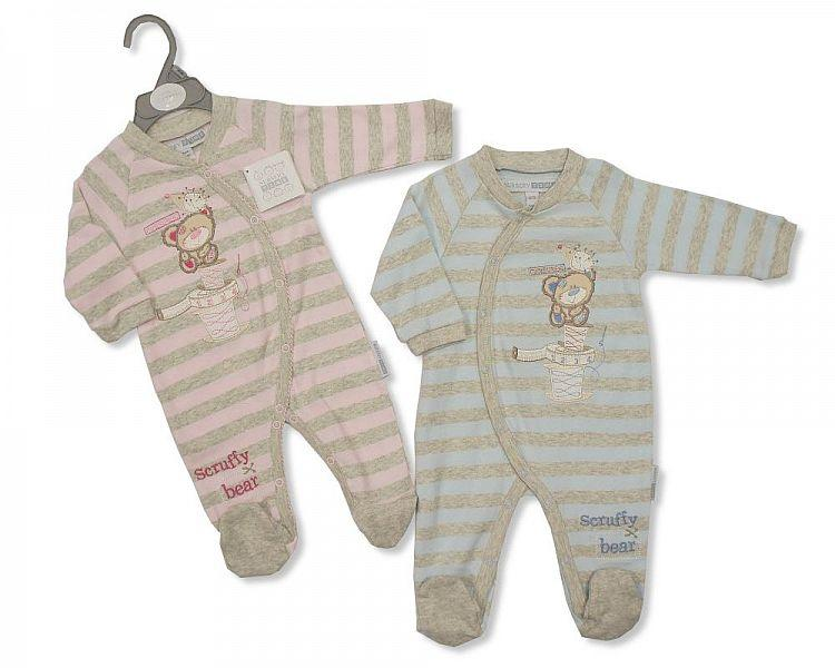 Tiny Baby Cotton All in One - Scruffy Bear (PB-2012-267) - Kidswholesale.co.uk