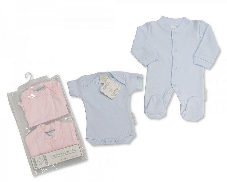 Premature Baby Cotton Sleepsuit and Bodyvest - 3/8 Lbs (PB-2014-277) - Kidswholesale.co.uk