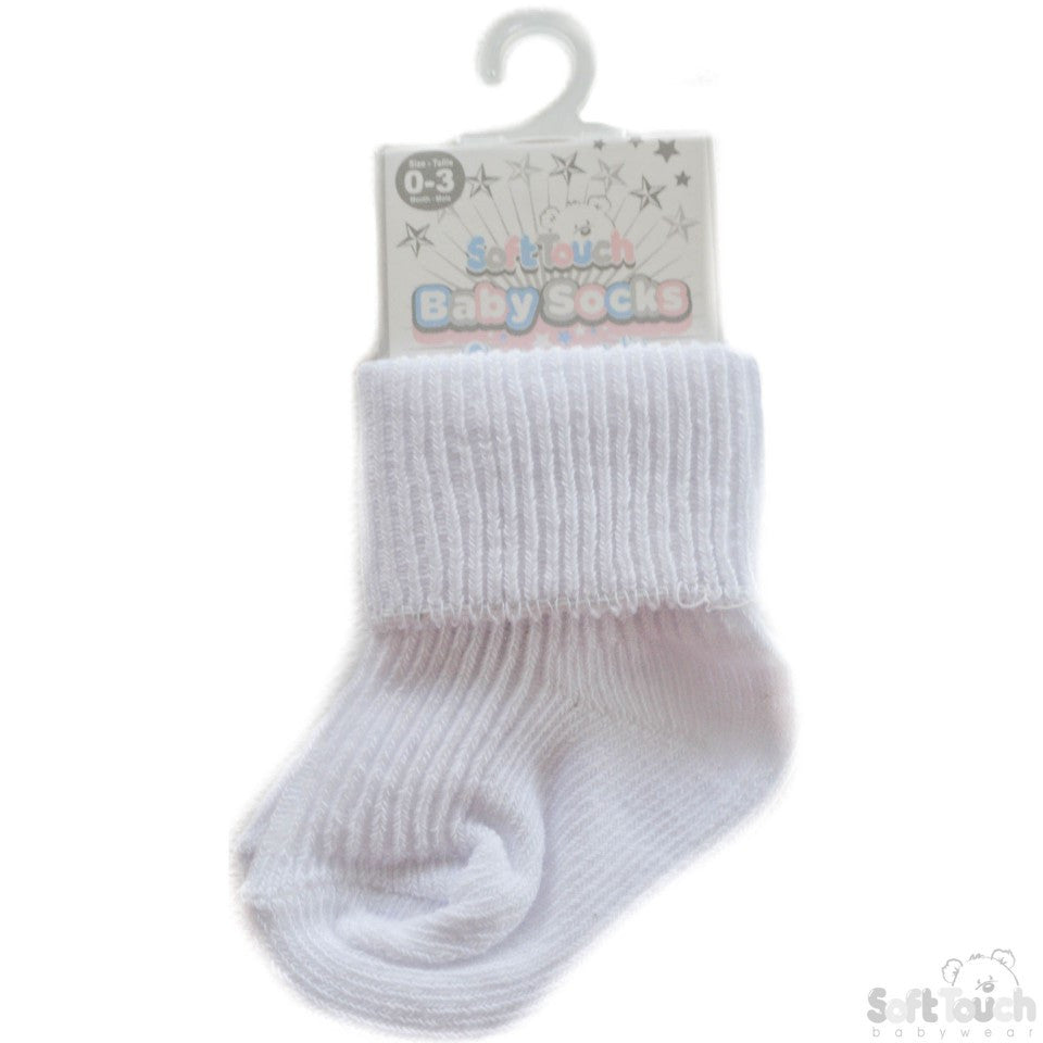 Plain Turn Over Socks S02-W-03