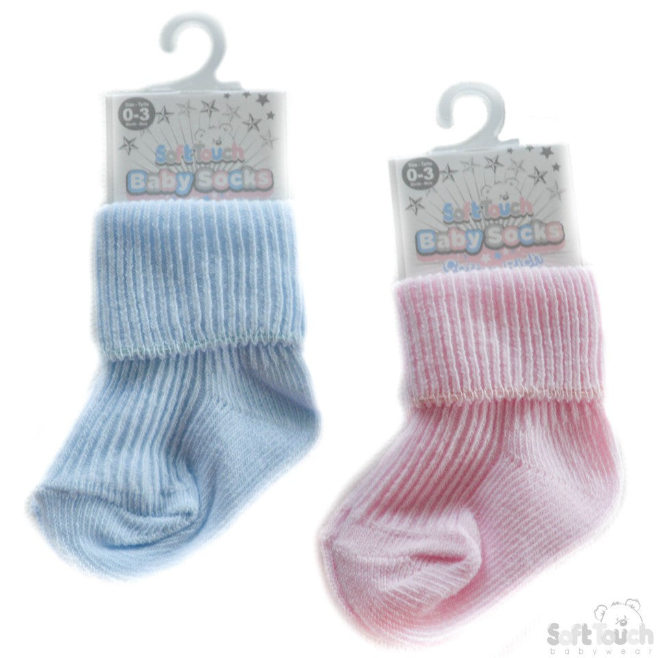PLAIN TURNOVER SOCKS: S04-PB-03