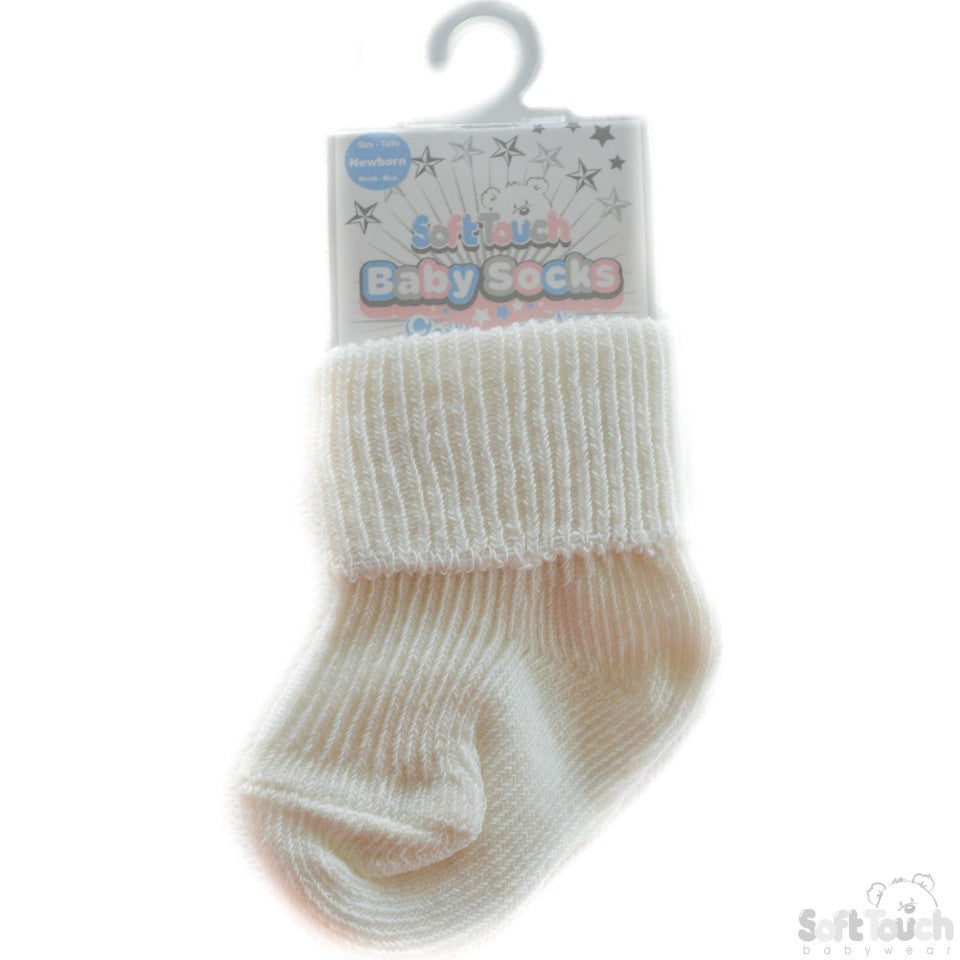 Plain Turnover Socks: S05-C-NB