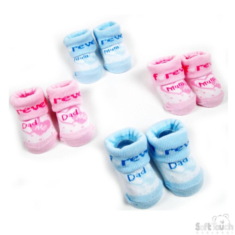 BABY SOCKS  MUM DAD S234
