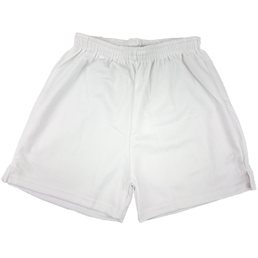 White - Clearance School Mesh Shorts - P.E/Sports - 3-XXL