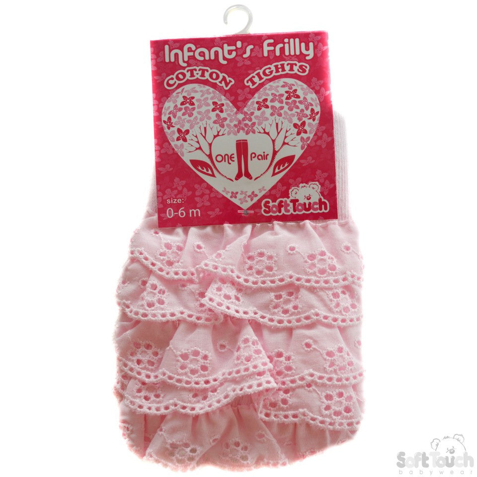 A179	Infants Cream Frilly Tights: T24