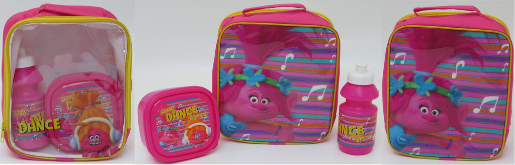Girls Pink Lunch 3pc Set Trolls (4105v-6574)