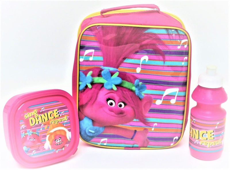 Girls Pink Lunch 3pc Set Trolls (4105v-6574) - Kidswholesale.co.uk
