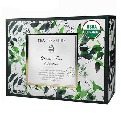 Green Tea Pyramid Tea Bags Collection - an Assorted Sample Gift Box