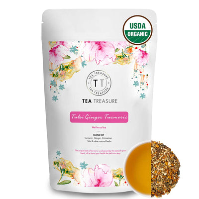 Tulsi Ginger Turmeric Herbal Tea
