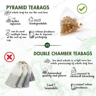 TeaTreasure Caffeine Free Tea Pyramid Tea Bags Collection - an Assorted Sampler Gift Box