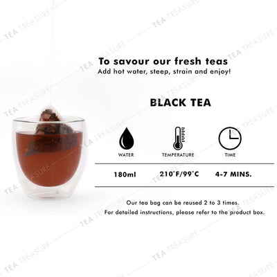 Black Tea Pyramid Tea Bags Collection - an Assorted Sample Gift Box