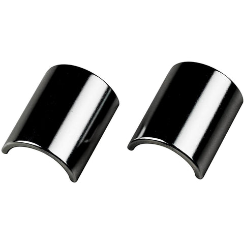 VeloOrange Alloy Handlebar Shims for 31.8 to 26.0mm (Two Piece), silver and black