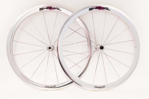 Wheelset with Campagnolo Shamal Clincher Rims and Campagnolo Record #HB-00RE / #FH-00RE Hubs