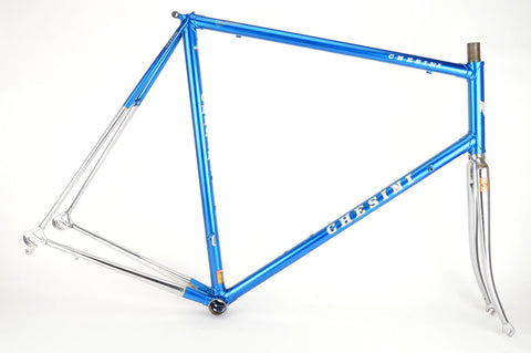 Blue Chesini frame  in 61.5 cm (c-t) / 60 cm (c-c), with Columbus tubing