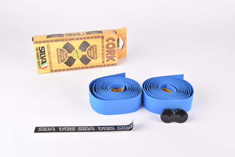 NOS Silva Cork handlebar tape in blue from the 1990s