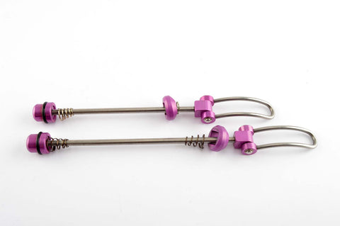 purple anodized Odyssey Svelte Titanium MTB skewer set from the 1990s