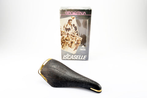 NEW Iscaselle Giro d'Italia leather saddle from the 1990s NOS/NIB